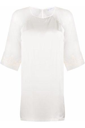 La Perla Lace-embroidered silk night dress