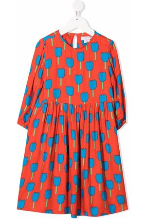 Stella McCartney Kids Tulips-print long-sleeve dress