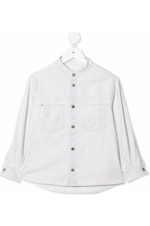 Dondup Band-collar long-sleeve shirt