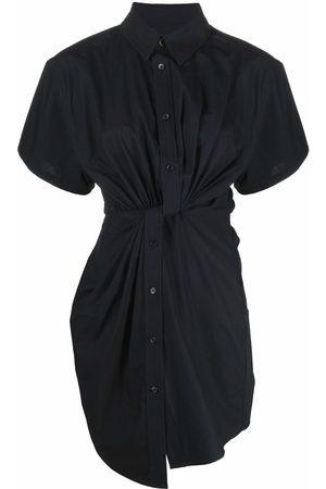 Alexander Wang Ruched short-sleeved shirt dress