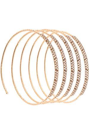 Mattia Cielo 18kt rose Rugiada diamond five row coil cuff