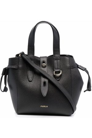 Furla Net mini leather tote