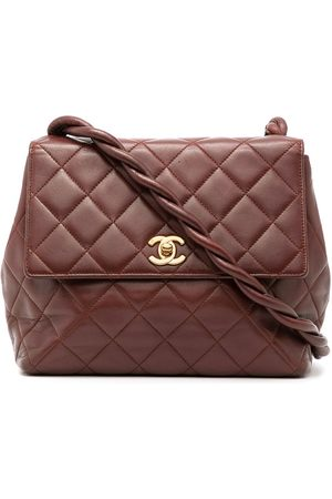 CHANEL 1997 braided detailing diamond-quilted shoulder bag