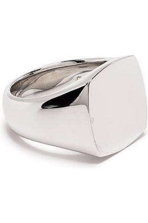 TOM WOOD Cushion polished signet ring