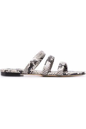 Aeyde Chrissy snake-effect sandals