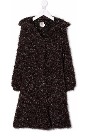 Caffe' D'orzo Beata shaggy lurex coat