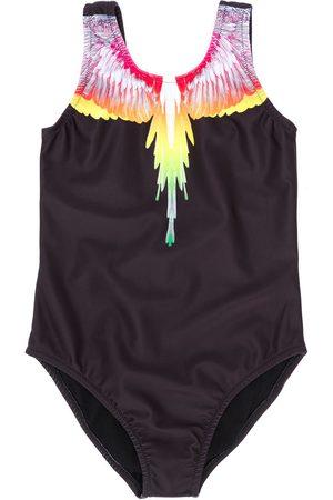 MARCELO BURLON Logo swim trunks