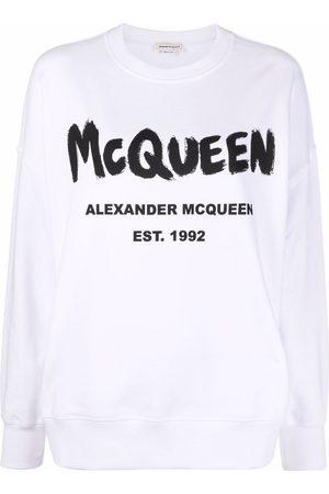 Alexander McQueen Logo-print crew neck sweatshirt