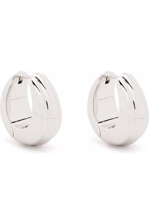 TOM WOOD Medium Ice line hoop earrings