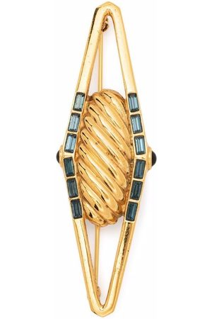 Lanvin Women Brooches - 1980s gemstone-embellished twist brooch