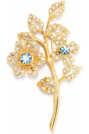 Givenchy Pre-Owned 1990s crystal-embellished leaf brooch