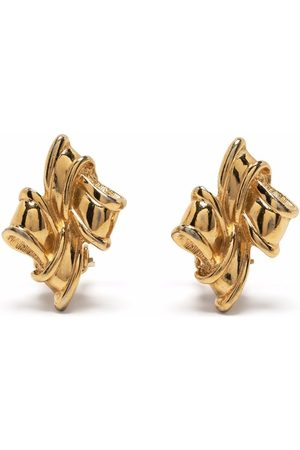 Givenchy Pre-Owned 1980s link detail clip-on earrings