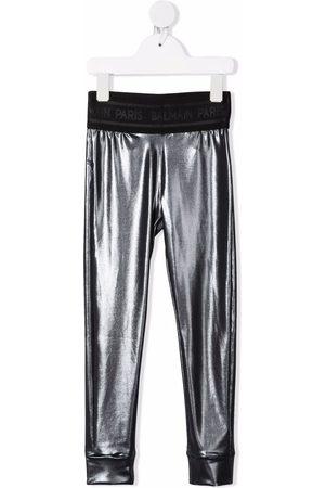 Balmain High-shine logo-band leggings