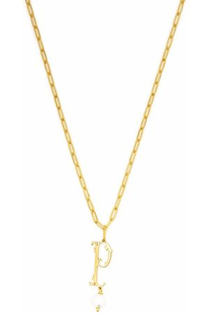 Simone Rocha Pearl-embellished P letter pendant necklace