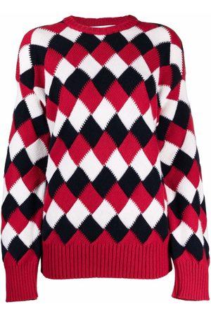 AMI AMALIA Argyle-knit merino sweater