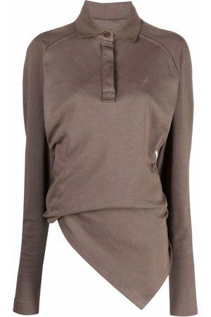 The Attico Asymmetric polo shirt