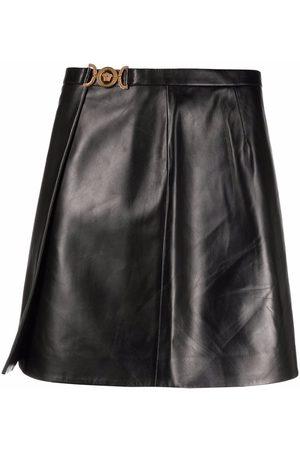 VERSACE Women Mini Skirts - Medusa wrap-effect mini skirt