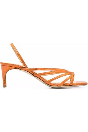 GIANNICO Rhinestone-embellished leather sandals