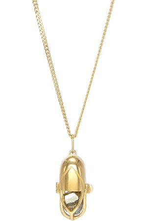CAPSULE ELEVEN Pyrite crystal capsule pendant necklace