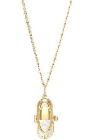 CAPSULE ELEVEN Women Necklaces - Crystal and clear quartz capsule pendant necklace