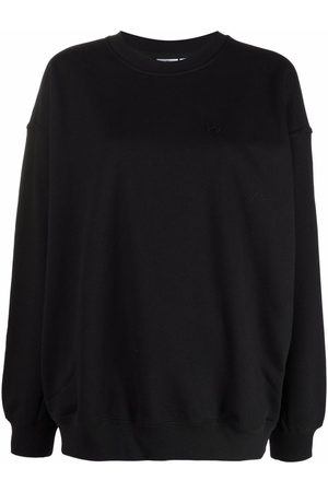adidas Women Sweatshirts - Essential Trefoil logo-patch sweatshirt