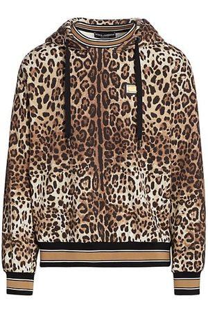 Dolce & Gabbana Leopard-Print Hooded Sweatshirt