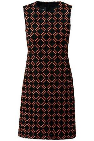 Akris Embroidered Wool Sheath Dress