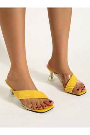 YOINS Criss-cross Design Open Toe Low Heel Sandals