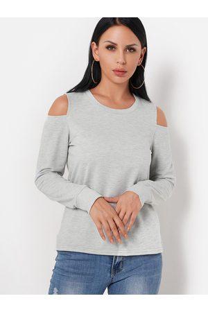 YOINS Women Long Sleeve - Cold Shoulder Long Sleeves Top