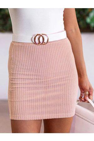 YOINS Women Mini Skirts - Knit Bodycon Mini Skirt