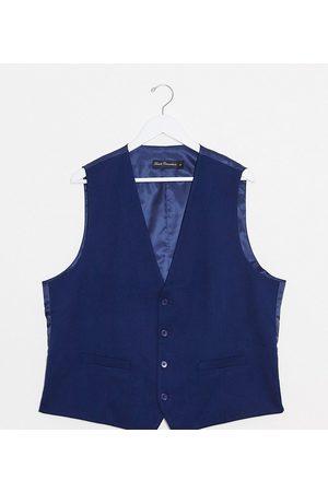 French Connection Men Waistcoats - PLUS wedding slim fit flannel waistcoat
