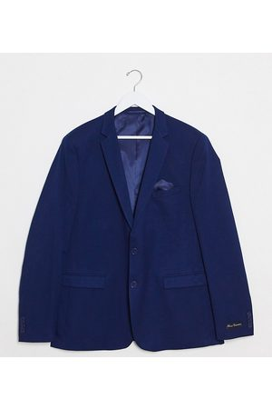 French Connection Plus wedding slim fit flannel suit jacket