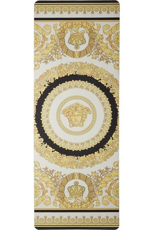 Sports Accessories - Versace White & Gold I Heart Baroque Yoga Mat