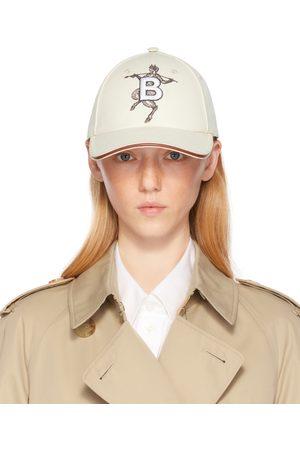 Women Caps - Burberry Off- Mythical Alphabet 'B' Faun Cap