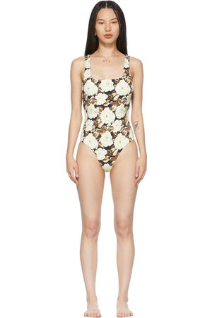 Women Swimsuits - SIR. Off-White Carlo Square One-Piece Swimsuit