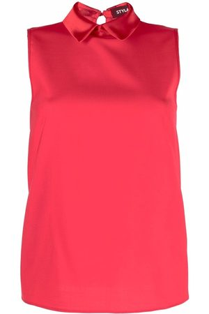 Styland Women Tank Tops - Sleeveless collared shirt