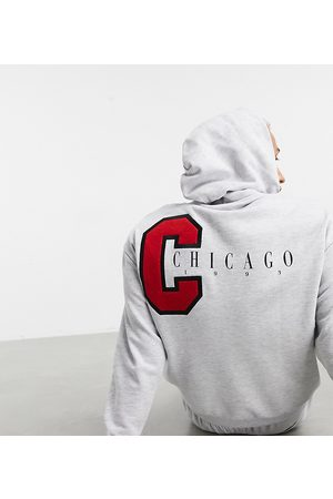 ASOS Oversized hoodie with applique Chicago city print