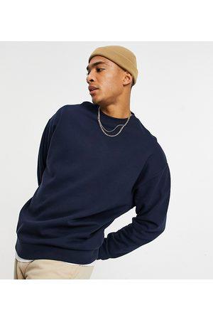 ASOS Oversized sweatshirt in navy