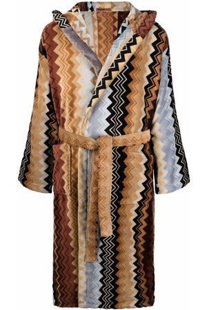 Missoni Giacomo belted hooded bathrobe