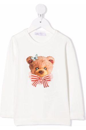 MONNALISA Teddy print top