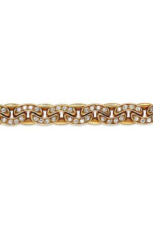 Sterlé 18kt yellow Art Deco diamond link bracelet