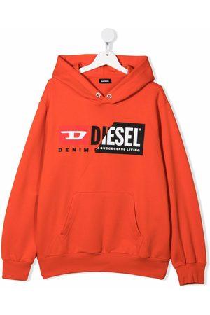 Diesel Kids TEEN graphic-print cotton hoodie