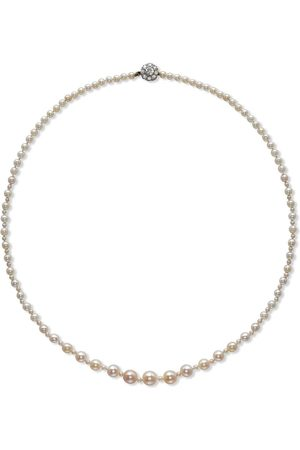 Pragnell 18kt yellow gold Belle Époque pearl and diamond necklet