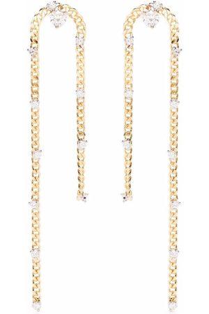 Delfina Delettrez Women Earrings - 18kt yellow Unchain My Art diamond earrings