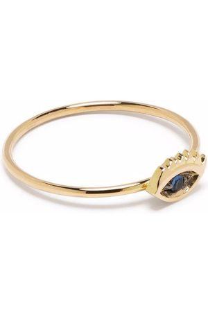 DELFINA DELETTREZ 18kt yellow Micro-Eye sapphire ring