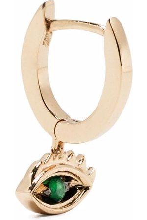 DELFINA DELETTREZ 9kt yellow Micro-Eye Piercing emerald earring