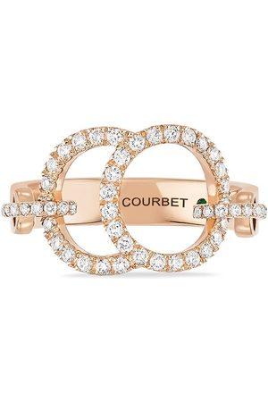 Courbet 18kt rose gold diamond pavé set Celeste ring