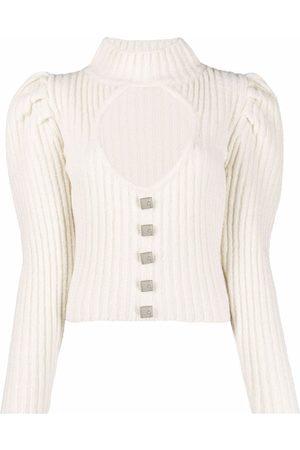GIUSEPPE DI MORABITO Cut-out detail puff-sleeve jumper