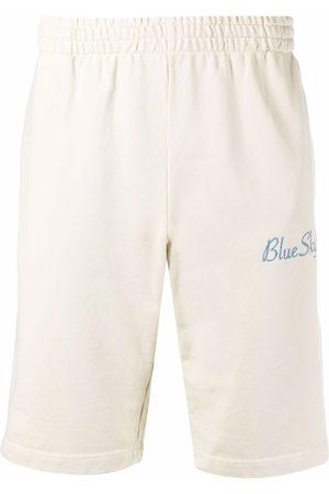 BLUE SKY INN Men Sports Shorts - Logo-embroidered cotton shorts