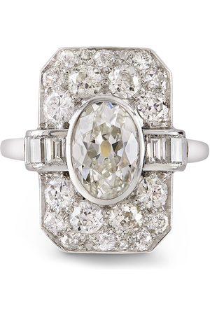 Pragnell Women Platinum Art Deco diamond plaque ring